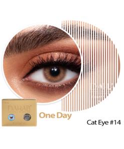 عدسات ذهب اليومية اللون CAT EYE #14