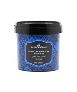الصابون البلدي المغربي بالنيلة الزرقاء من جاردن دي اوليان 500 غرام
